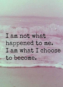 I am not what happen to me
