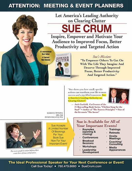 Sue Crum speaking brochure