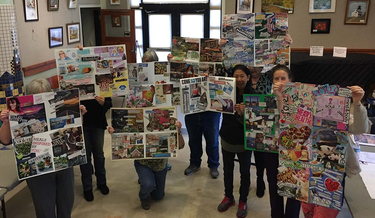 Showing off Results of Vision Board Workshop